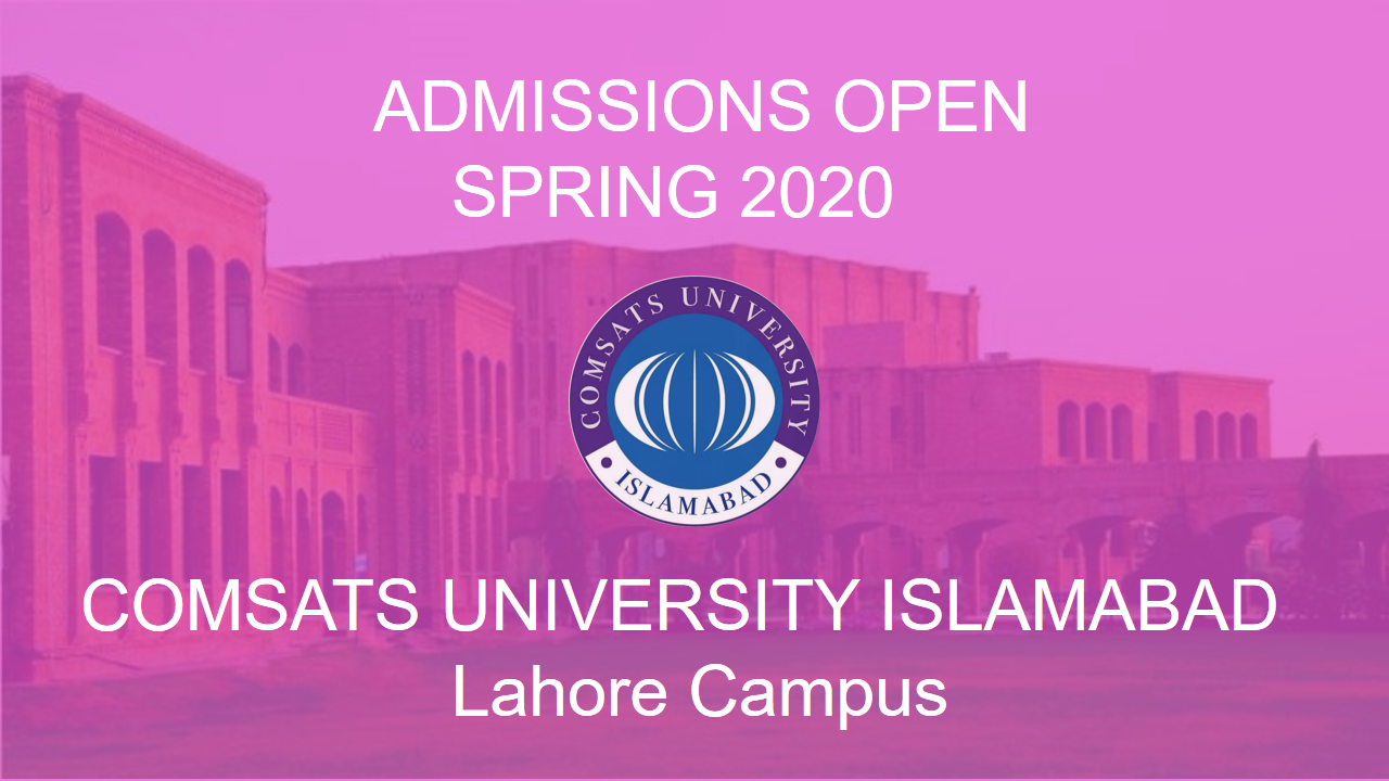 COMSATS Lahore Admissions Spring 2020